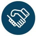 picto relation de proximité et de confiance de l'agence Coletteandco