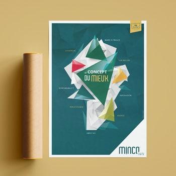 Affiche graphique Minco crée par Coletteandco