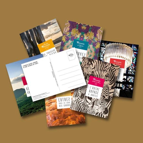 cartes postales Oceania Hotels réalisées par Coletteandco