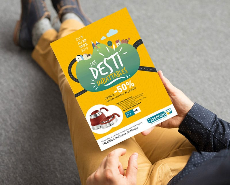 Flyer Destinéa créé par Coletteandco