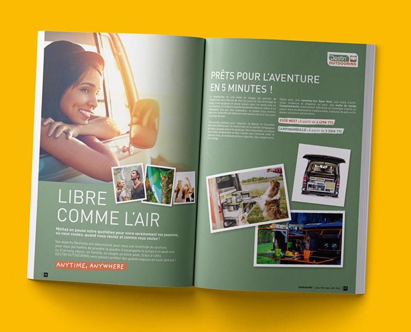 Magazine Destinéa créé par Coletteandco