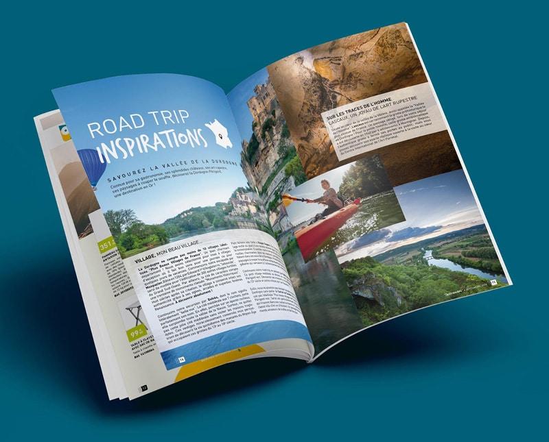 Magazine page road trip Destinéa créé par Coletteandco