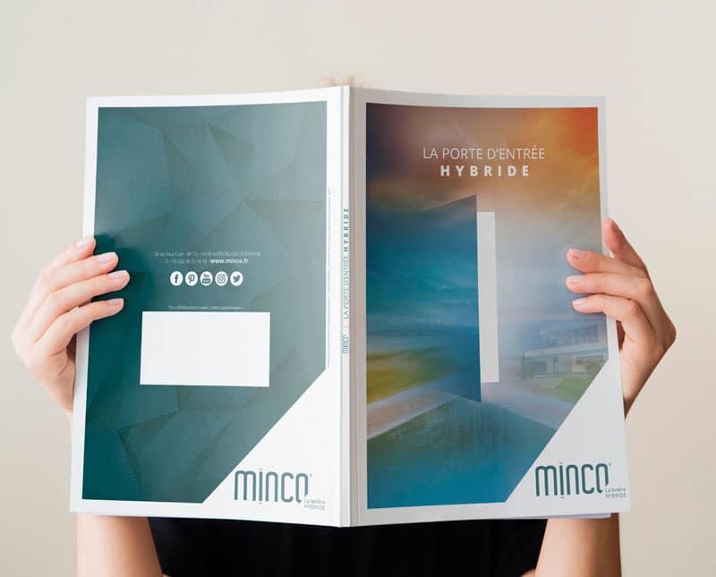 Couverture ouverte du catalogue Porte Minco crée par Coletteandco