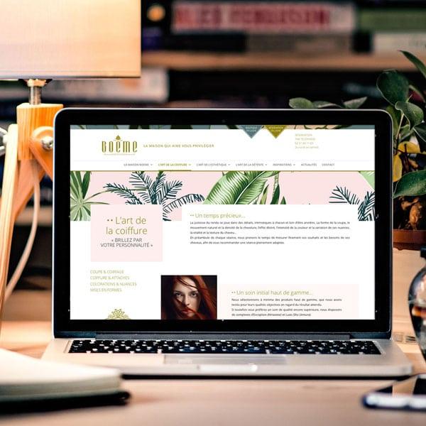 site internet de la maison boëme créé par coletteandco