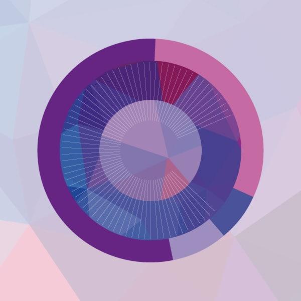 Univers graphique 2 du rapport d'activité de la cité des congrès créée par l'agence Coletteandco